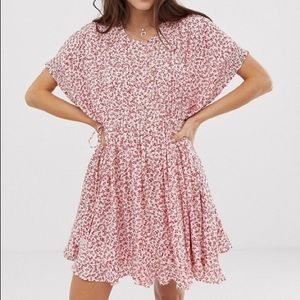 Free People One Fine Day White Floral Mini Dress